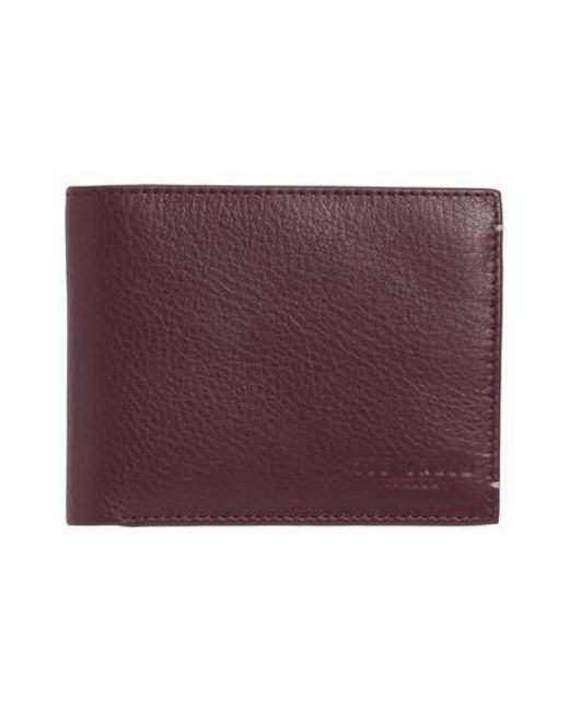 Ted Baker | Purple Davus Leather Wallet for Men | Lyst