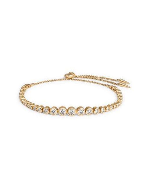 Jemma Wynne - Metallic Prive Luxe Large Diamond Slider Bracelet - Lyst