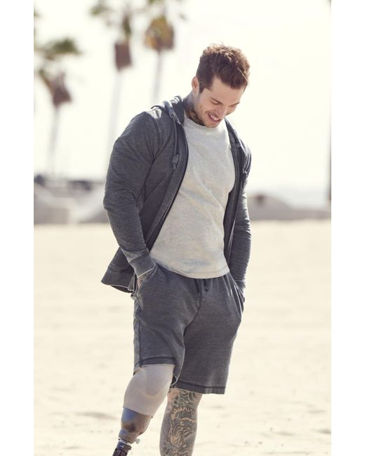 Daniel Buchler Gray Peruvian Pima Cotton T-shirt for men