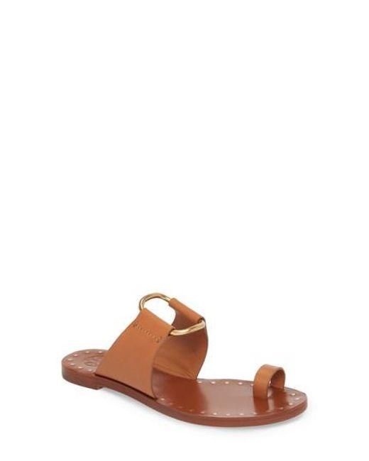 Tory Burch - Brown Brannan Studded Sandal - Lyst
