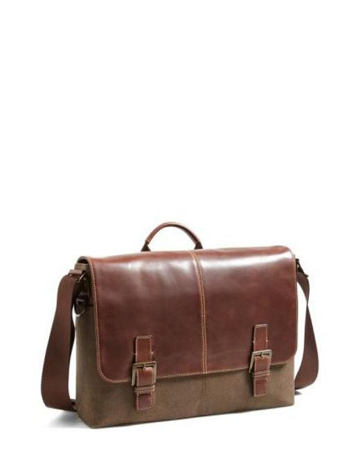 Boconi - Brown 'bryant' Messenger Bag for Men - Lyst