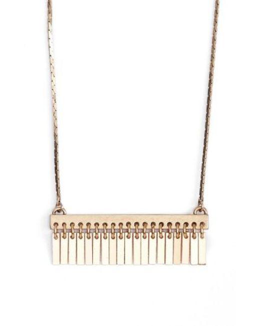 Jenny Bird | Metallic Raya Pendant Necklace | Lyst