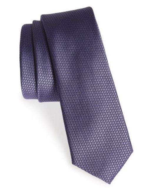 Calibrate   Purple Seattle Textured Silk Tie for Men   Lyst