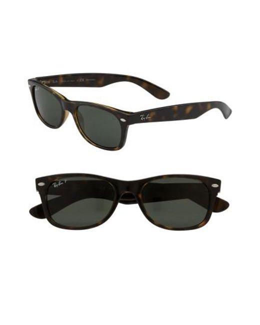 Ray-Ban | Brown Small New Wayfarer 52mm Polarized Sunglasses | Lyst