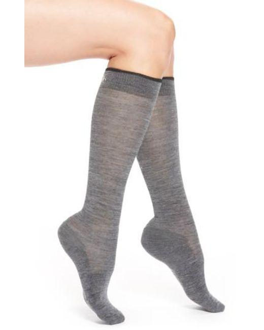 Smartwool | Gray Merino Wool Blend Knee High Socks | Lyst