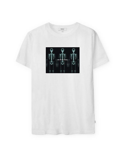 Wesc White Men's We Are All Equal Graphic Tee for men