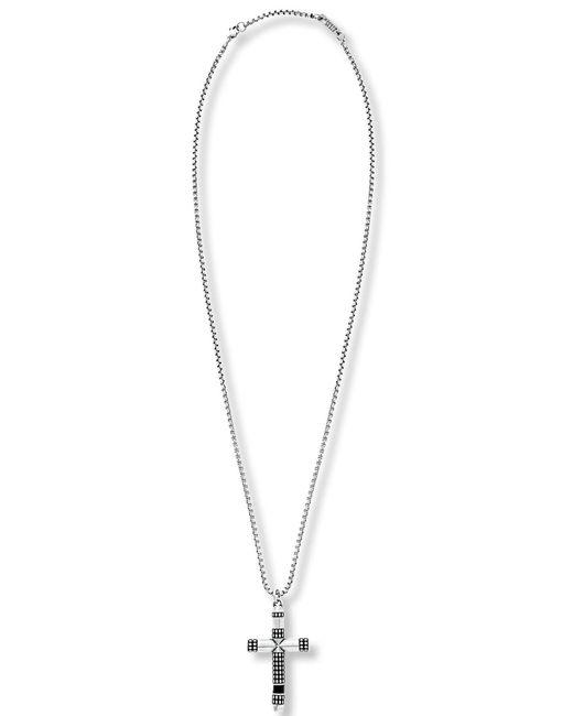 Steve Madden - Metallic Textured Cross Pendant Necklace for Men - Lyst