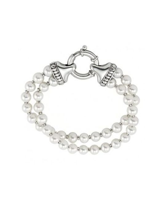 Lagos - Metallic 'luna' Double Strand Pearl Bracelet - Lyst