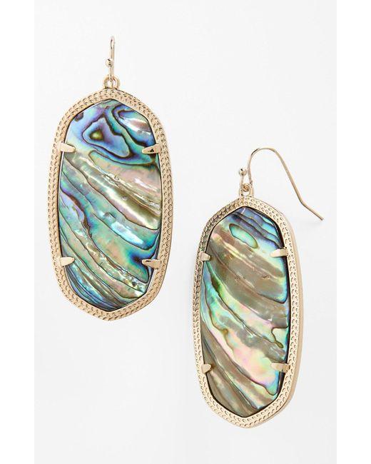 Kendra Scott - Blue Danielle - Large Oval Statement Earrings - Lyst