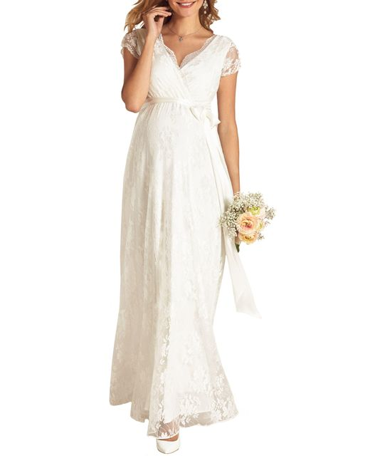 TIFFANY ROSE White Eden Lace Maternity Gown