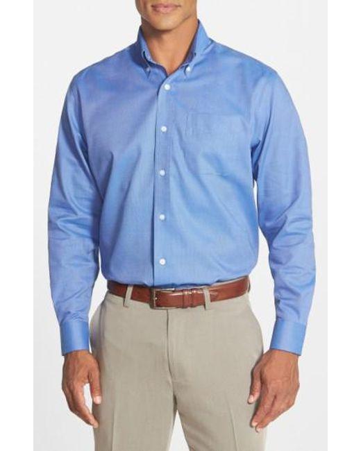 Cutter & Buck | Blue 'nailshead' Classic Fit Sport Shirt for Men | Lyst