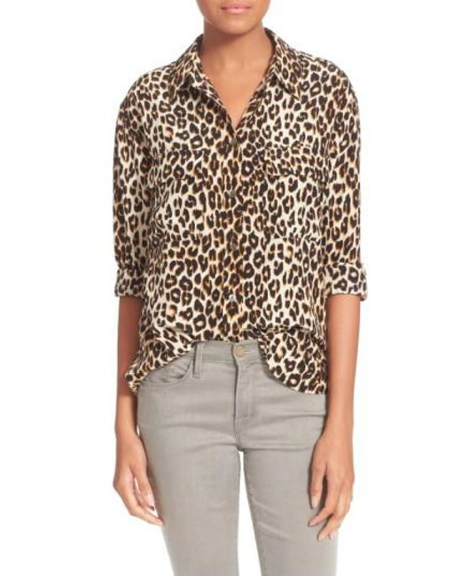 Equipment | Natural 'slim Signature' Silk Shirt | Lyst