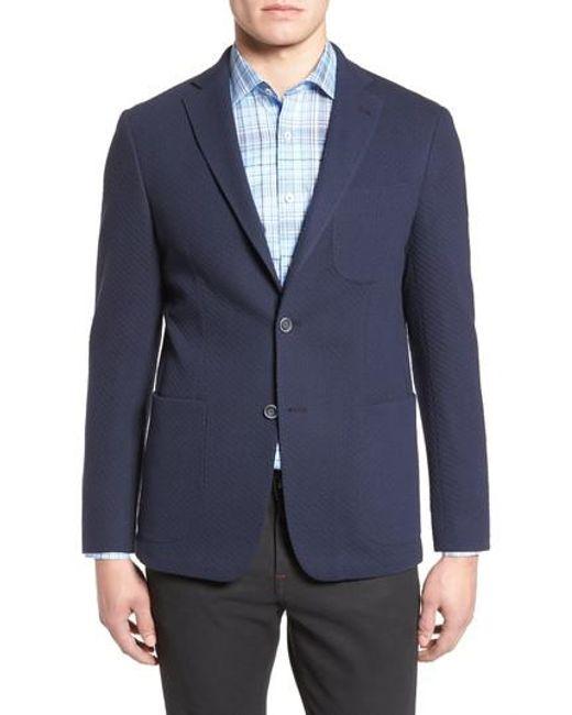 Bugatchi | Blue Textured Blazer for Men | Lyst