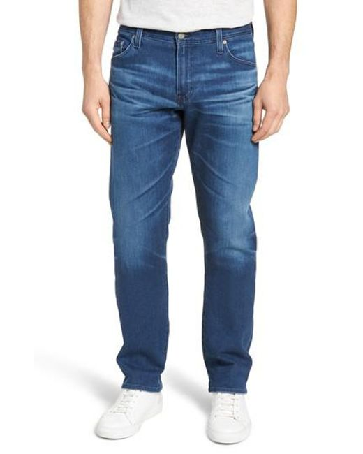 AG Jeans - Blue Graduate Slim Straight Fit Jeans for Men - Lyst