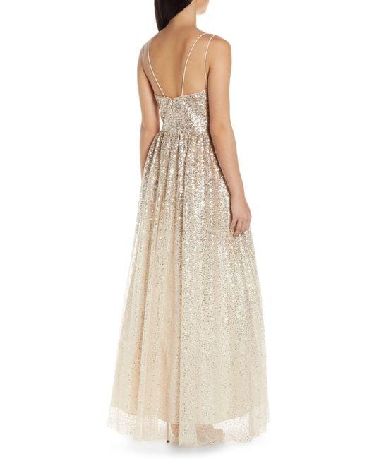 6ea0272539 ... Eliza J - Metallic Ombré Sequin Gown - Lyst