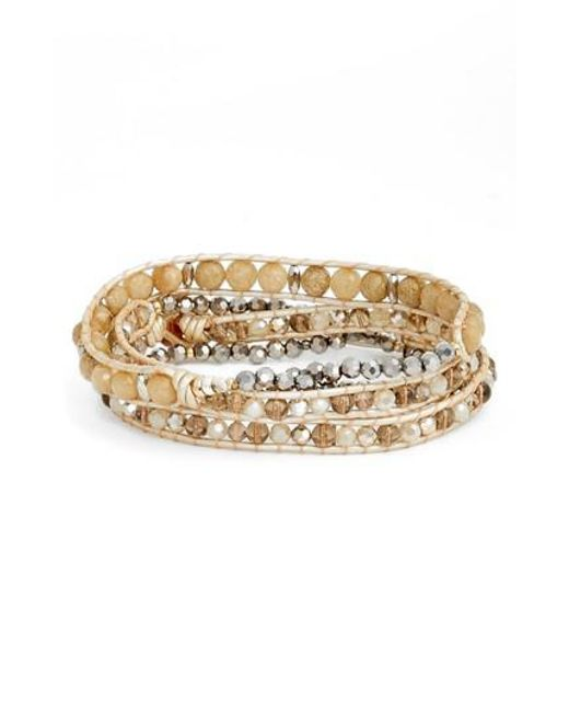 Nakamol | Metallic Beaded Wrap Bracelet | Lyst