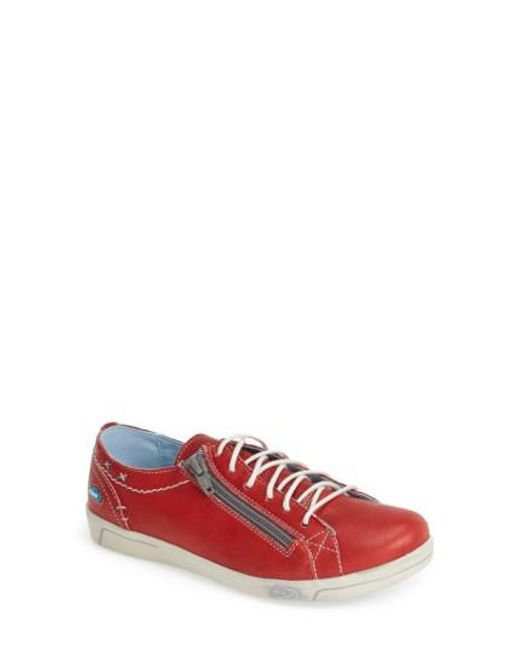 Cloud - Red 'aika' Leather Sneaker - Lyst