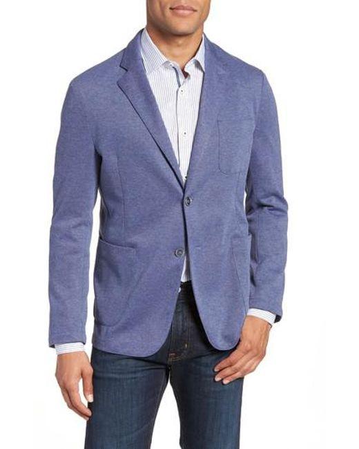 Bugatchi - Blue Regular Fit Pique Blazer for Men - Lyst