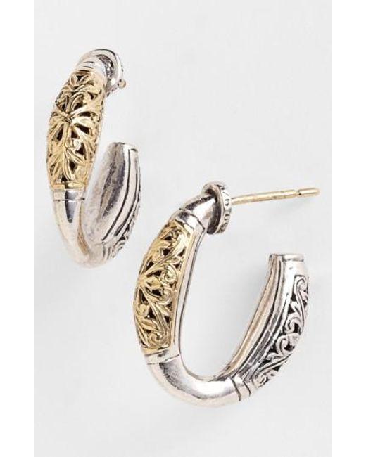 Konstantino | Metallic 'classics' Two-tone Hoop Earrings | Lyst
