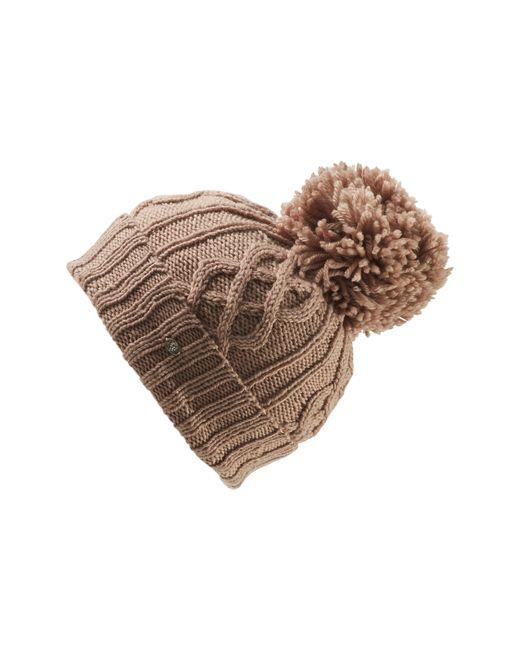 Helen Kaminski - Natural Knit Wool Pom Beanie - Lyst
