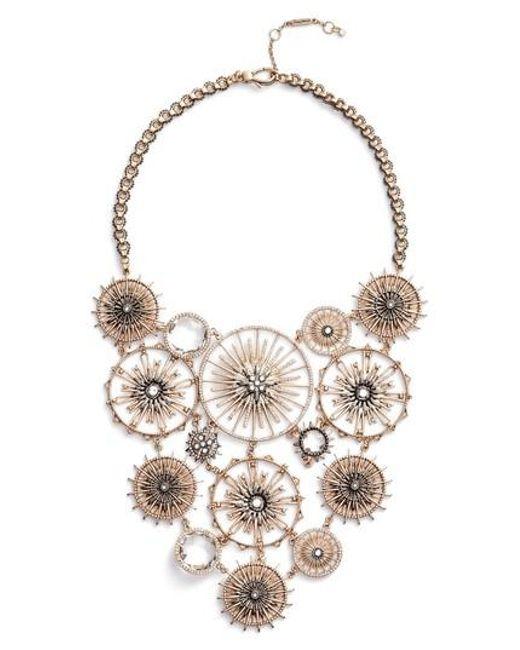 Jenny Packham | Metallic Drama Bib Necklace | Lyst