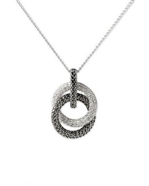 Judith Jack - Metallic Necklace, Marcasite And Crystal Loop Pendant - Lyst
