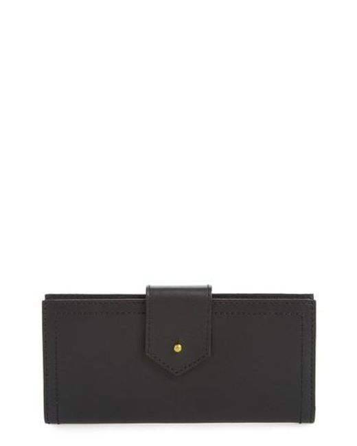 Madewell | Black The Post Leather Wallet | Lyst