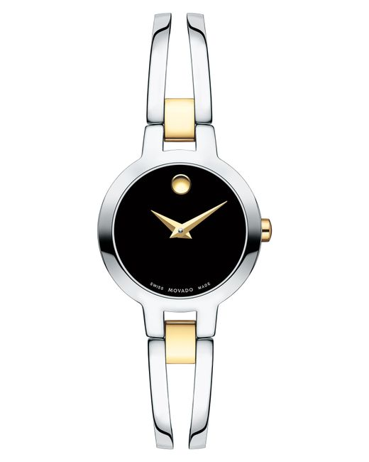Movado Metallic Amorosa Bangle Watch