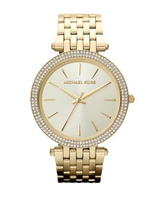Michael Kors - Metallic Michael Kors 'darci' Round Bracelet Watch - Lyst