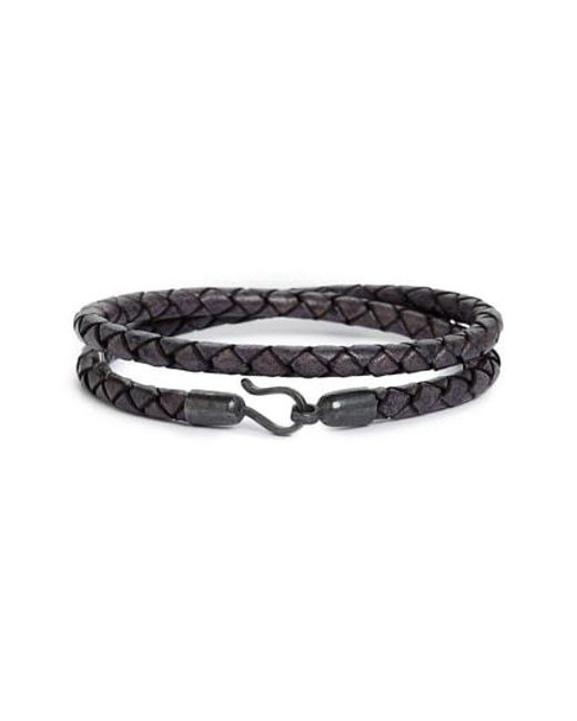 Caputo & Co. Mens Braided Double-Wrap Bracelet ULueCqUp