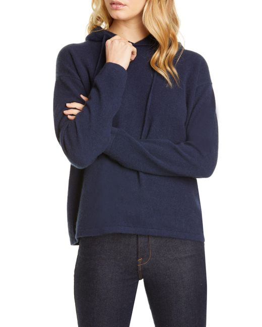 Nordstrom Blue Cashmere Hoodie