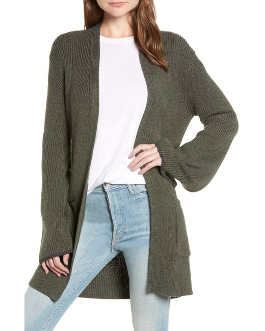 Hinge - Multicolor Tipped Bell Sleeve Cardigan - Lyst