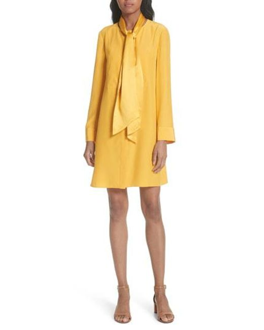 Tory Burch - Yellow Sophia Shift Dress - Lyst