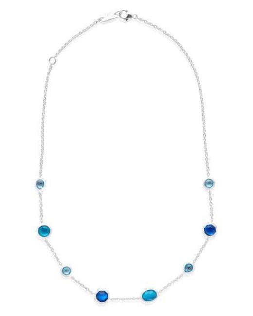 Ippolita   Blue Wonderland Station Necklace   Lyst