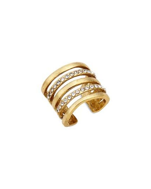 Karine Sultan | Metallic Claire Cage Ring | Lyst