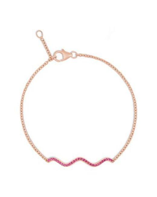 Sabine G   Memphis Chained Wave Pink Sapphire Bracelet   Lyst