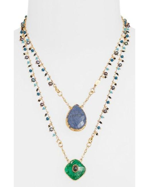 Gas Bijoux | Blue Scapulaire Convertible Pendant Necklace | Lyst