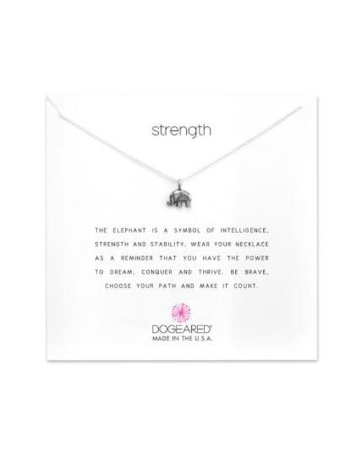 Dogeared | Metallic Reminder - Strength Pendant Necklace | Lyst