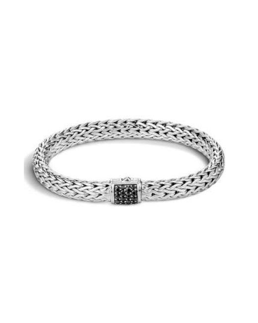 John Hardy | Black 'classic Chain' Sapphire Medium Bracelet | Lyst