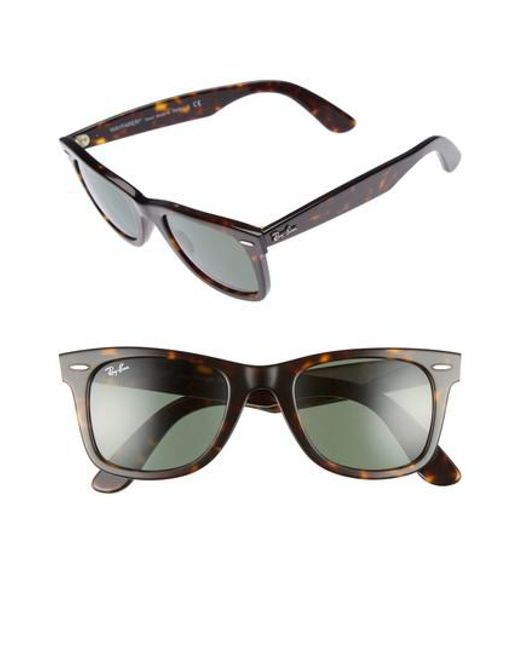 Ray-Ban - Black 'classic Wayfarer' 50mm Sunglasses - Lyst