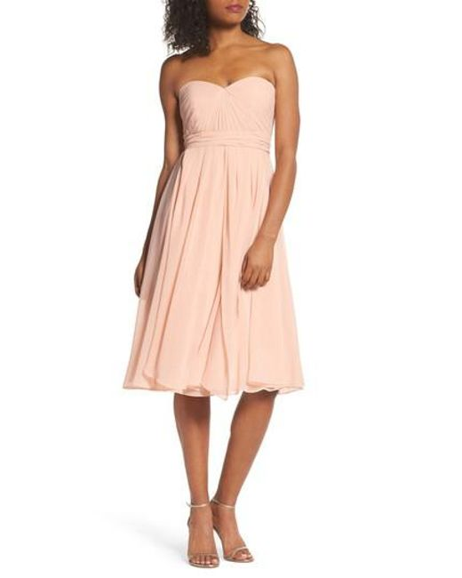 Jenny Yoo   Pink Ella Convertible Chiffon Tea-length Dress   Lyst