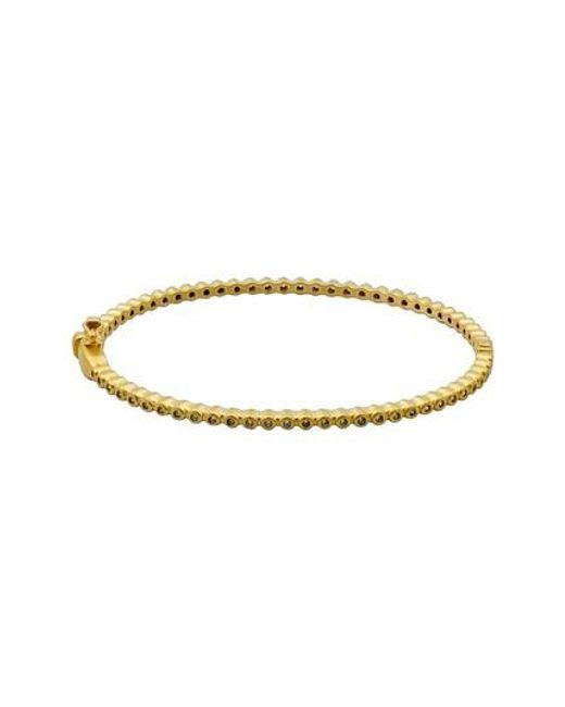 Freida Rothman - Metallic Signature Bevel Pave Hinge Bangle Bracelet - Lyst