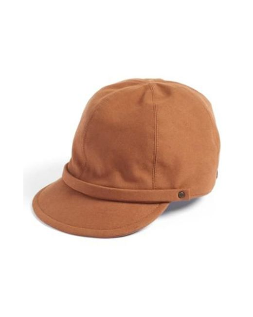 Eric Javits | Brown Mika Packable Faux Suede Cap | Lyst