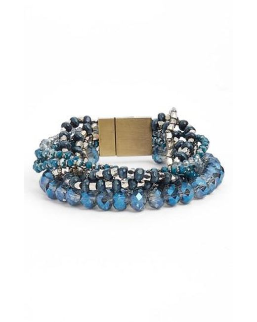 Serefina - Blue Layered Statement Bracelet - Lyst