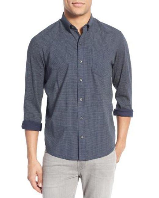 W.r.k. | Blue Slim Fit Dot Print Sport Shirt for Men | Lyst