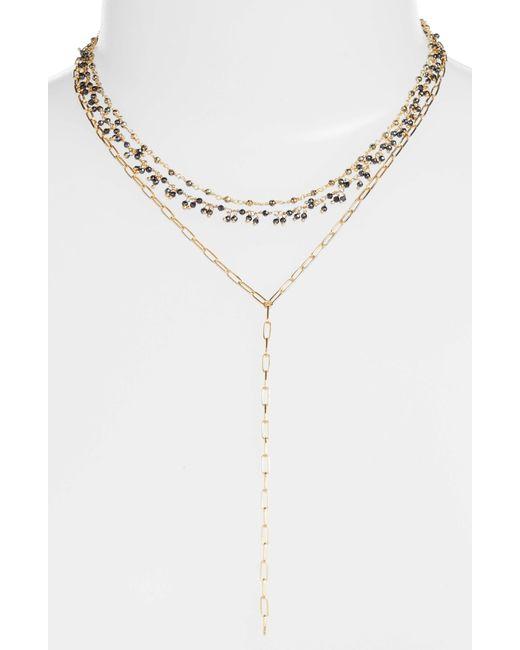 Ela Rae - Multicolor Multistrand Semiprecious Stone Necklace - Lyst