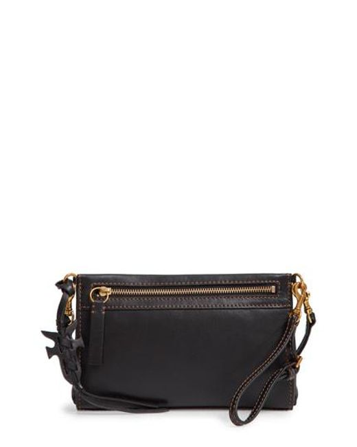 Frye - Black Carson Leather Wristlet/clutch - Lyst