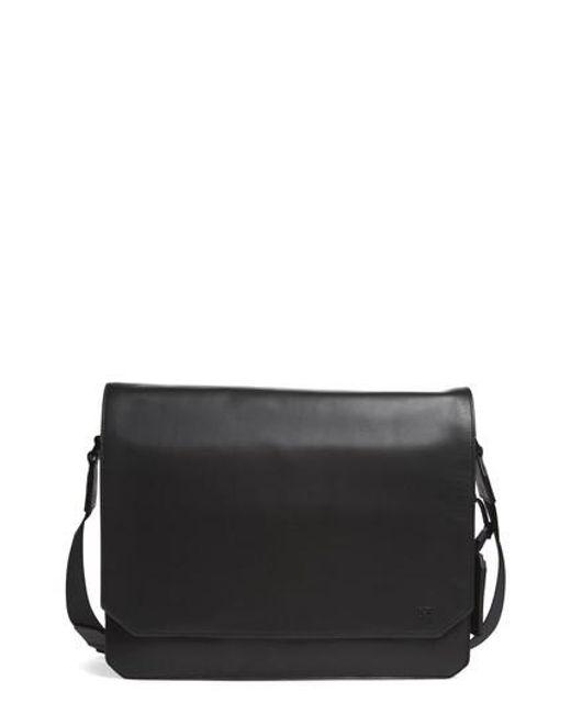 Vince Camuto | Black 'tolve' Leather Messenger Bag for Men | Lyst