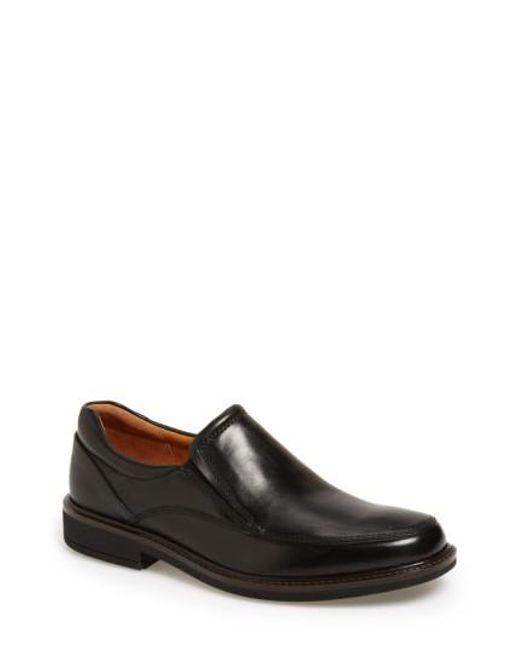 Ecco - Black 'holton' Venetian Loafer for Men - Lyst