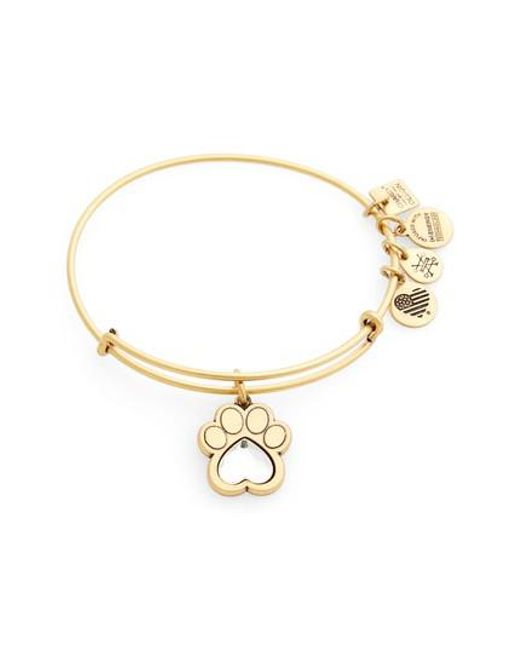 ALEX AND ANI | Metallic Prints Of Love Adjustable Wire Bangle | Lyst